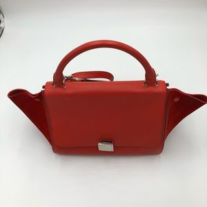 Authentic Used Celine Mini Trapeze